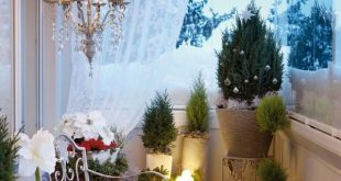 apartment balcony christmas decorating ideas image source KAIKGPN