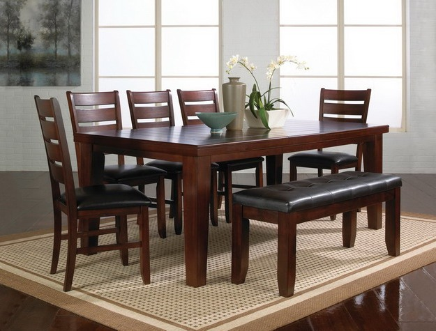 awesome dining room table with bench and chairs dining room LRQUAKA