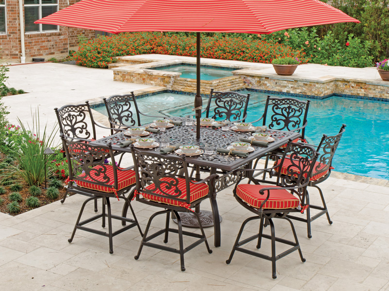bar height patio set with swivel chairs awesome bar height outdoor dining table of patio furniture sets cool FBPBBBW