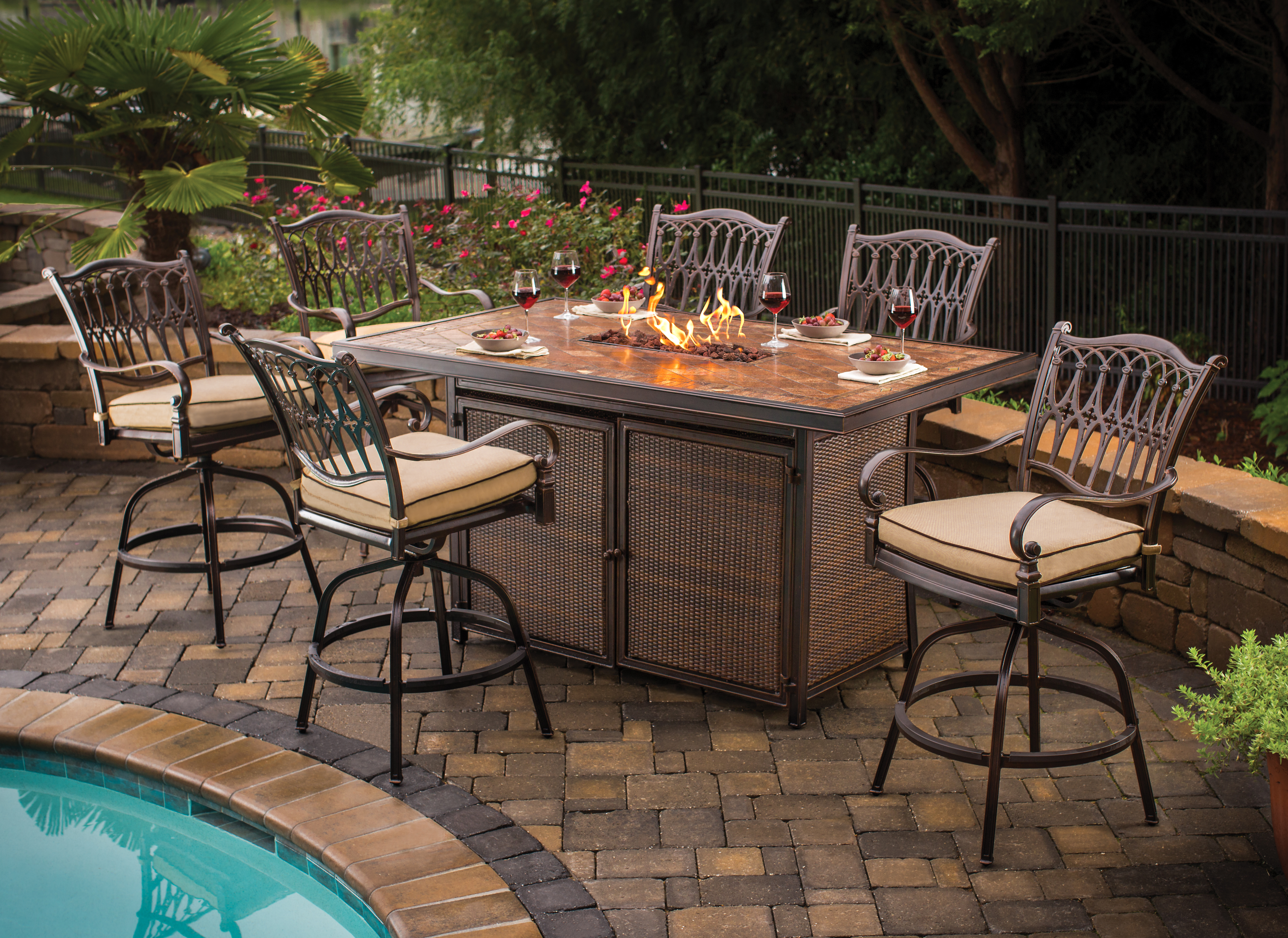 bar height patio set with swivel chairs balmoral bar height ... TIDMSBD