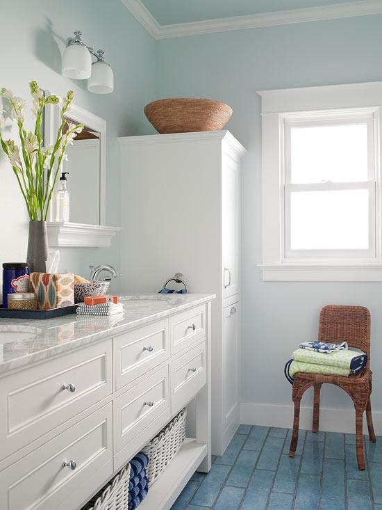bathroom paint colors for small bathrooms small bathroom color ideas | better homes u0026 gardens QNVHFVM