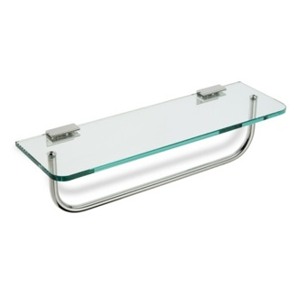 bathroom shelf with towel bar brushed nickel bathroom shelf clear glass bathroom shelf with towel bar stilhaus 764-08 DERZWCJ