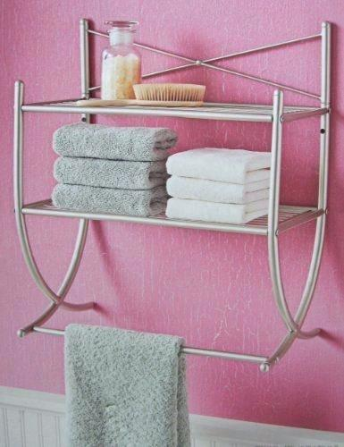 bathroom shelf with towel bar brushed nickel brushed nickel bathroom shelf wonderful brushed nickel bathroom shelves  ideas WNSBRFE