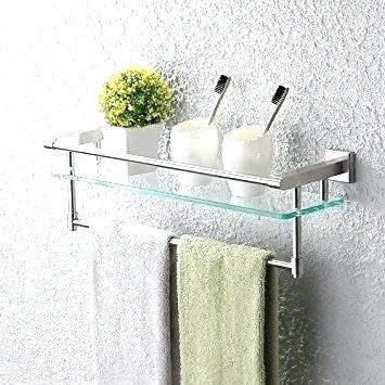 bathroom shelf with towel bar brushed nickel towel bar with shelf towel bar and shelf full size of HAGFLDA