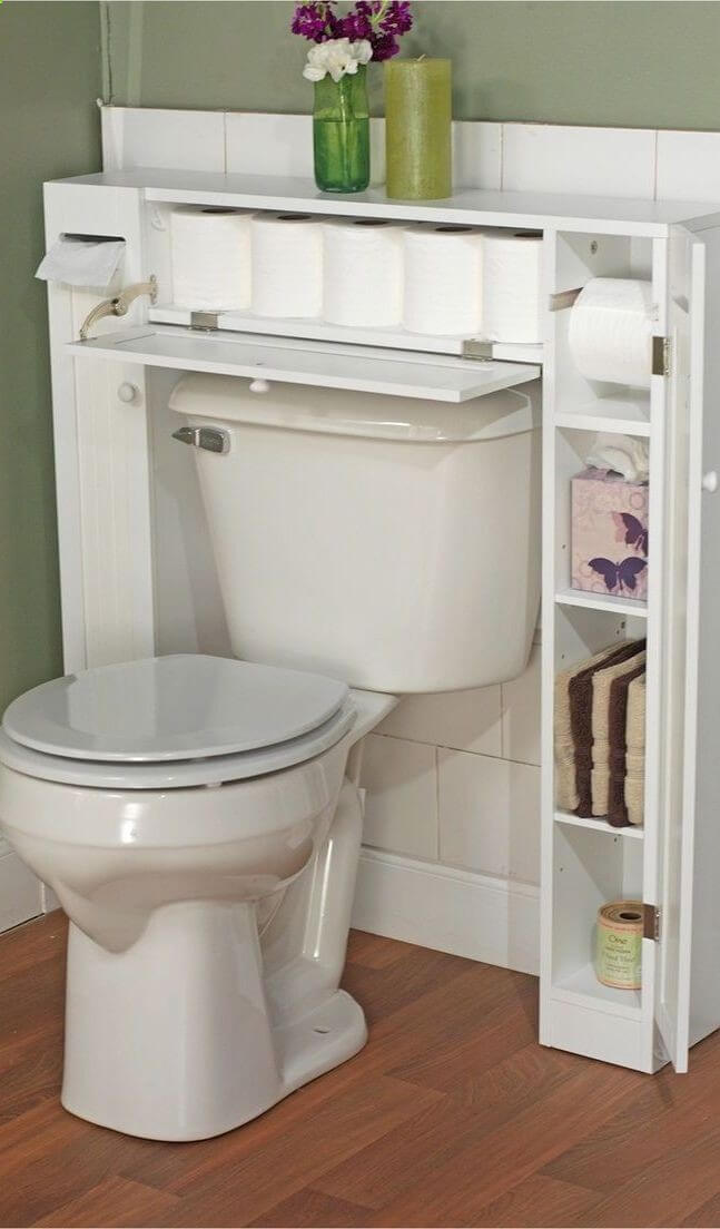 bathroom storage ideas for small bathrooms 42. never again run out of toilet paper UORXVRZ