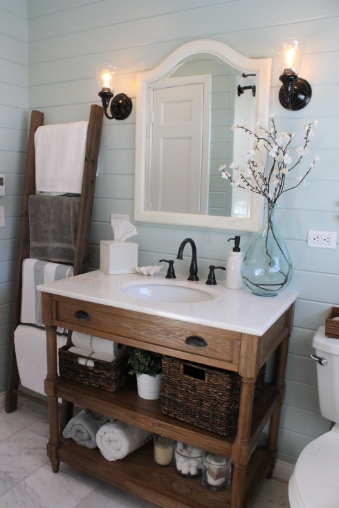 bathroom vanities that look like furniture making home base OFIBLJY