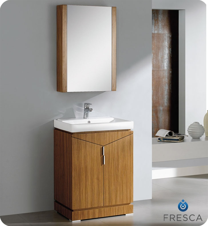 bathroom vanities with matching medicine cabinets fresca 24 inch wild honey oak modern bathroom vanity VSAXNPD