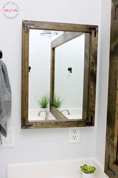 bathroom vanity mirror medicine cabinet diy vanity mirrors! farmhouse style bathroom vanity mirror and medicine AAYJEVP