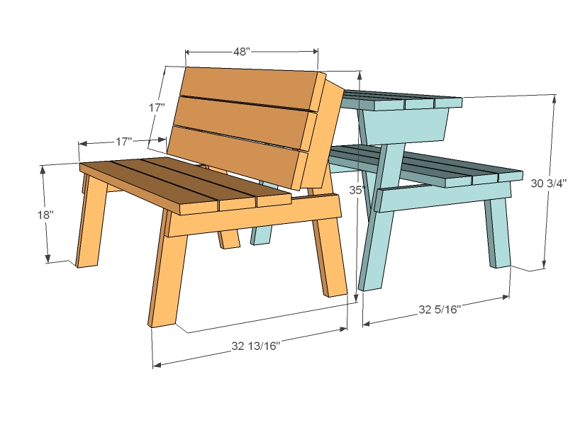bench that turns into a picnic table plans ana white | picnic table that converts to benches - diy GPDNLJZ