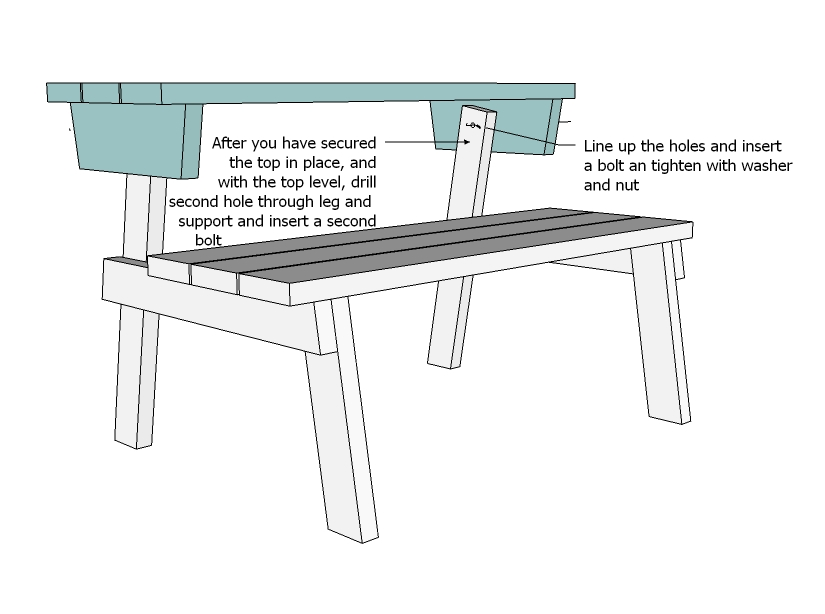 bench that turns into a picnic table plans ana white | picnic table that converts to benches - diy WWBVWLP