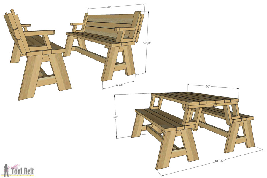 bench that turns into a picnic table plans convertible picnic table and bench AXFTLTE