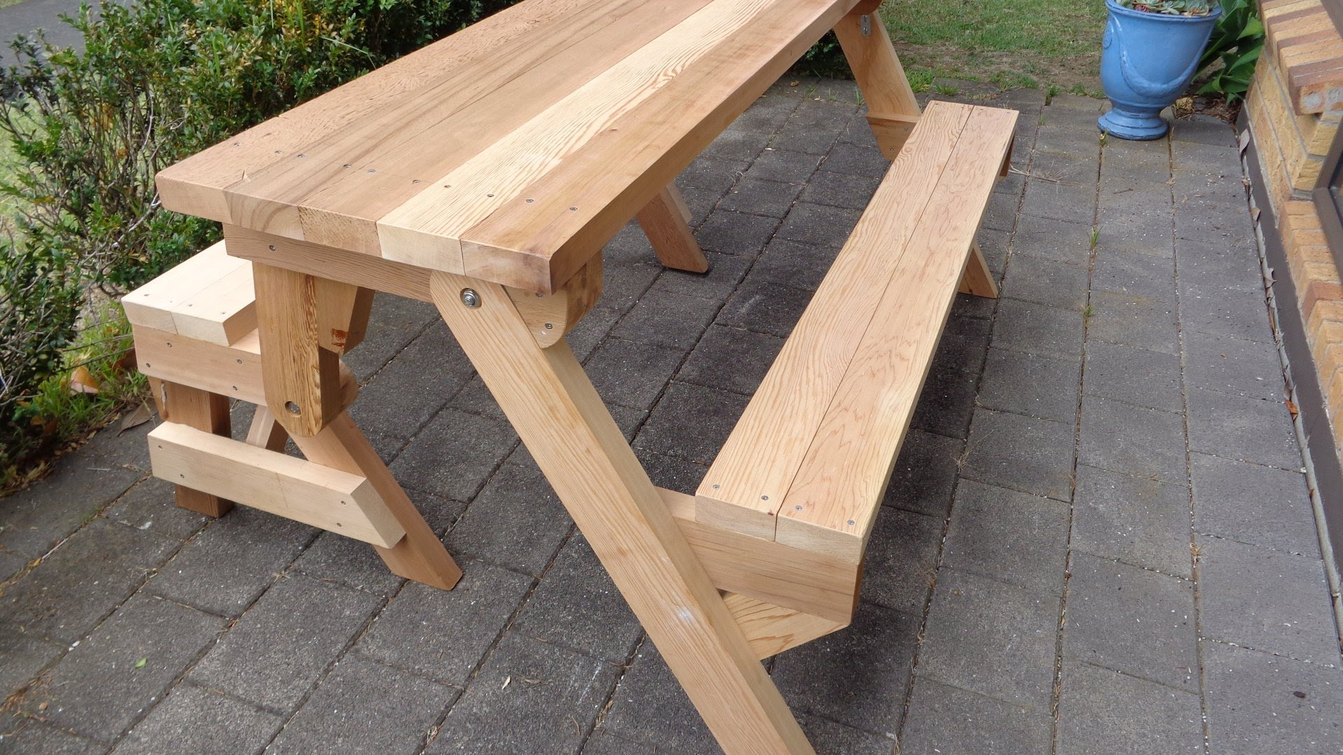 bench that turns into a picnic table plans folding picnic table made out of 2x4s MXVTVEL
