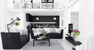 black and white decor ideas for living room 1 |; visualizer: ahmed alsayed. the first living room ... DBOSRWM