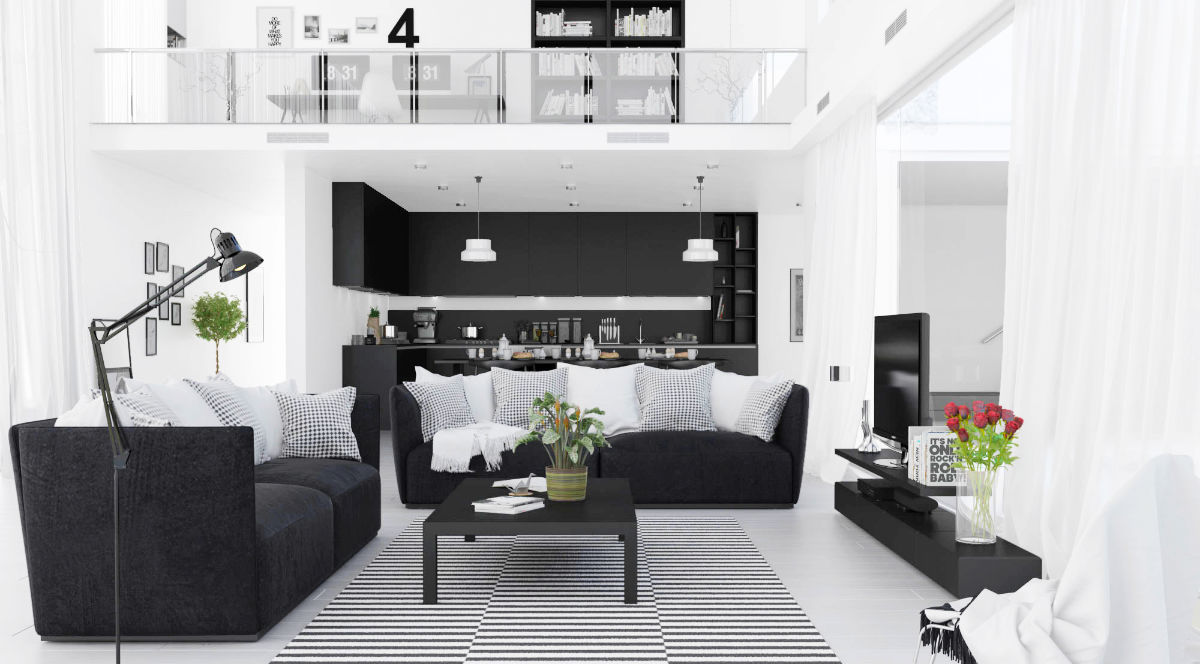 Black and White Decor Ideas for Living Room – A List of Possibilities