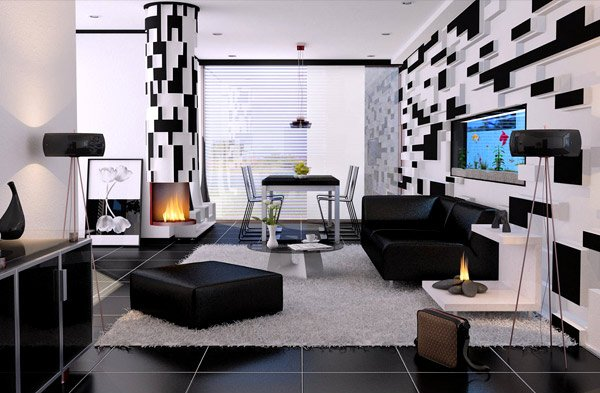 black and white decor ideas for living room black and white living rooms GJSNYOJ