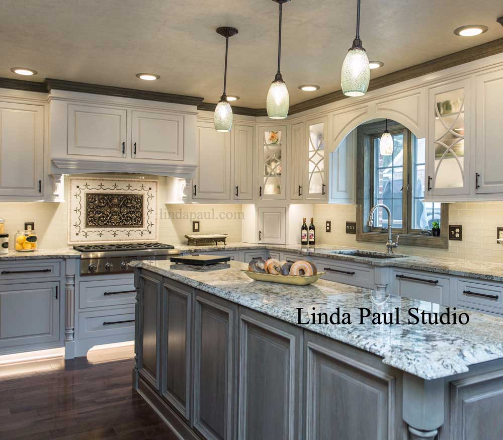 black and white kitchen backsplash ideas ravenna medallion in grey white and black kitchen OXLFJQE