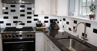 black and white kitchen backsplash ideas subway black white backsplash tile BVMFSYY