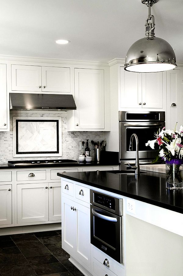 black and white kitchens with a splash of colour view in gallery glossy contemporary kitchen in black and white RCNRAEX