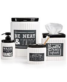black and white striped bathroom accessories bathroom: captivating best 25 white bathroom accessories ideas on pinterest ONMJJBZ