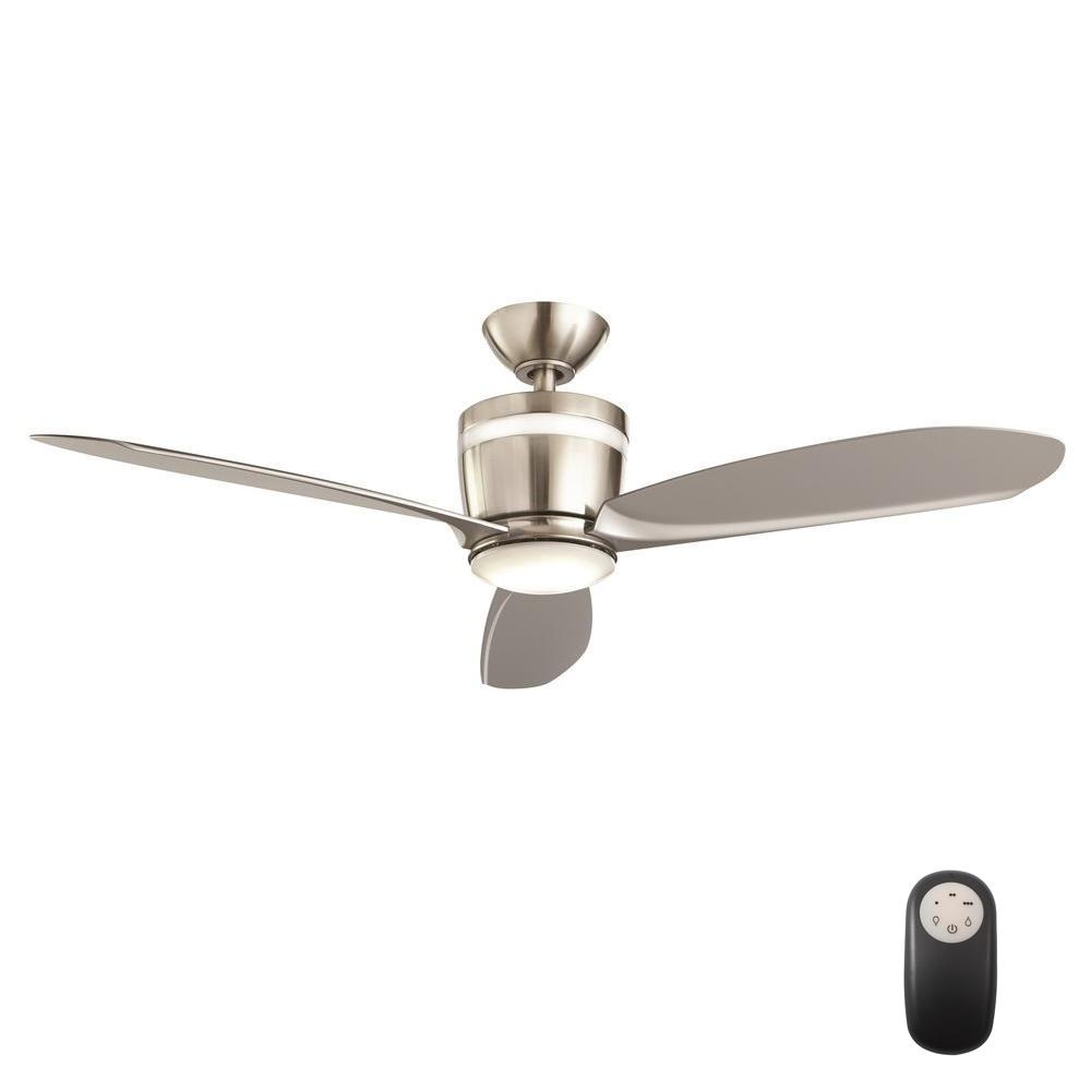 ceiling fans with led lights and remote control home decorators collection federigo 48 in. led indoor brushed nickel ceiling NCYCSNX