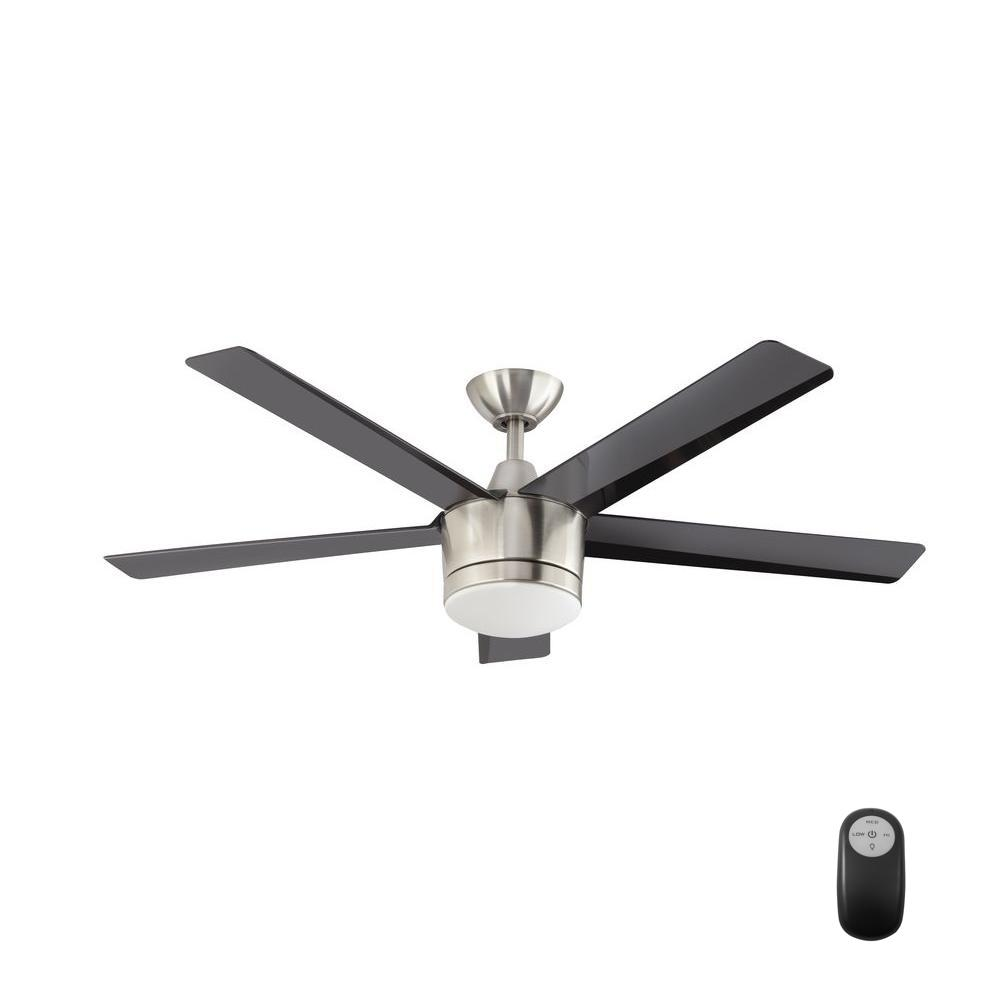 ceiling fans with led lights and remote control home decorators collection merwry 52 in. integrated led indoor brushed PFSRLYD