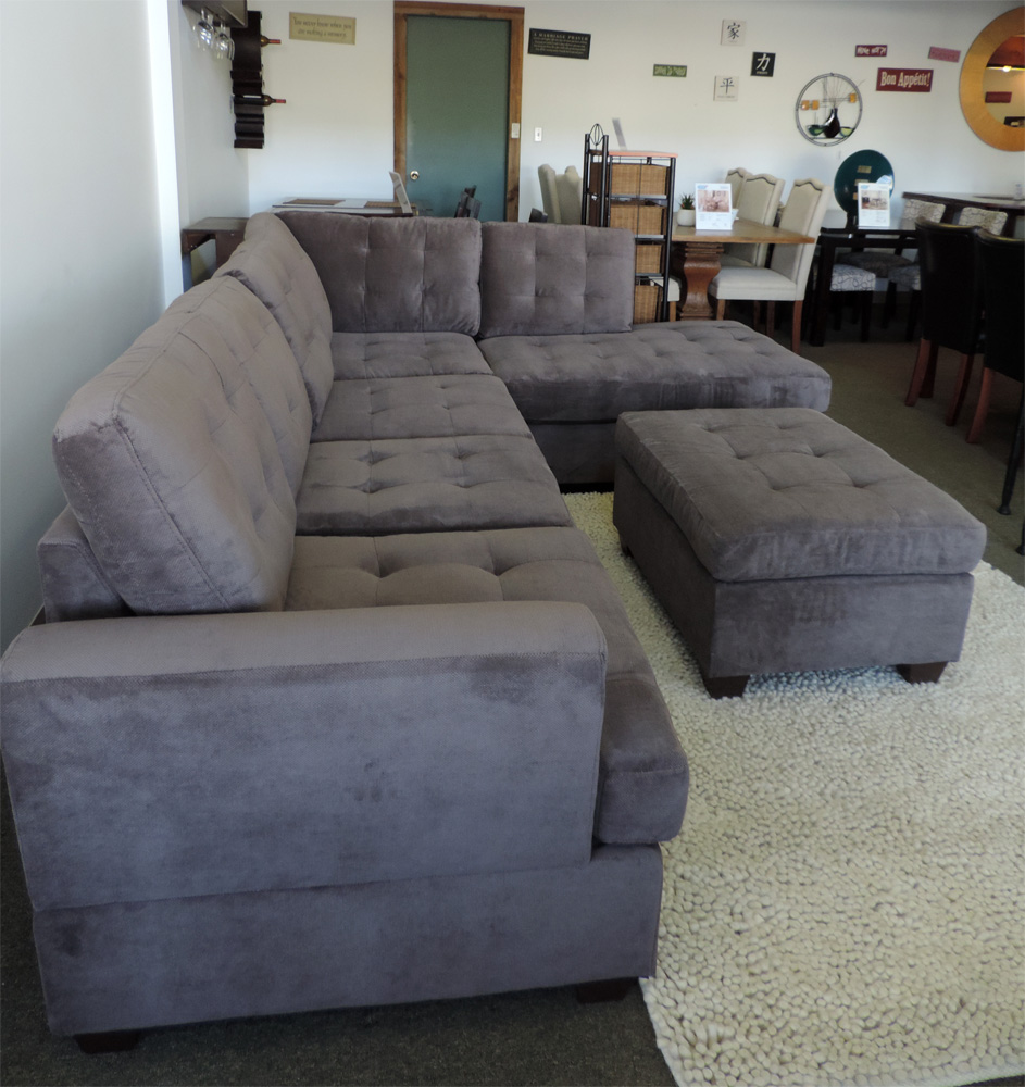 charcoal gray sectional sofa with chaise lounge ... charcoal grey leather sectional sofa sofacharcoal comfy chenille gray WBHSPLH