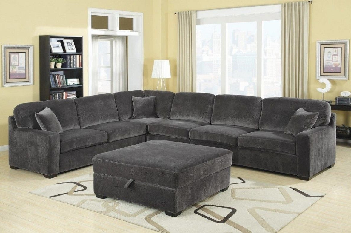 charcoal gray sectional sofa with chaise lounge home the regarding charcoal SZOJCQA