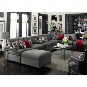 charcoal gray sectional sofa with chaise lounge umwdining OZIMXNN