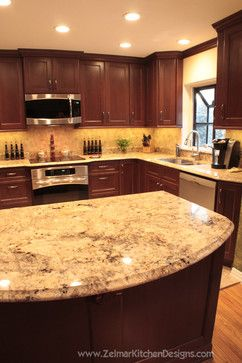 cherry kitchen cabinets with granite countertops 23 cherry wood kitchens (cabinet designs u0026 ideas) tags: cherry kitchen HTDEFLW