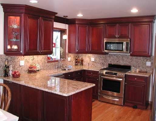 cherry kitchen cabinets with granite countertops awesomebrandi: kitchen layout similar to our current one, cherry cabinets, granite VNRDGIW