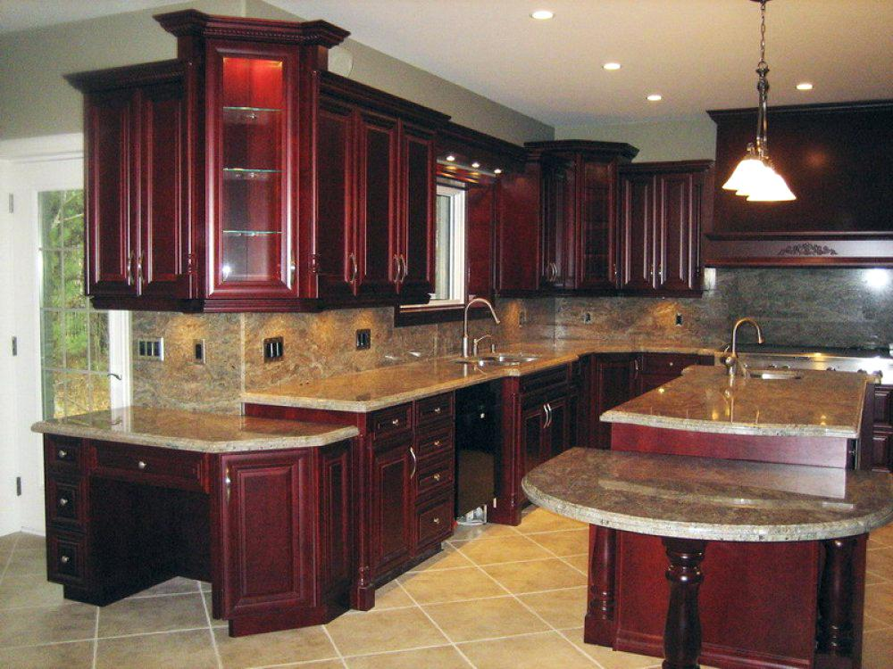 cherry kitchen cabinets with granite countertops cherry kitchen cabinet  pictures WTDNJBP
