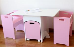 childrens table and chairs with storage childrens kids toddler pink table and chairs set w toy box SBRAGYM