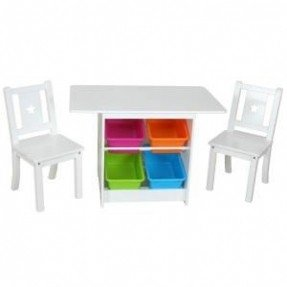 childrens table and chairs with storage - foter JSARFPZ