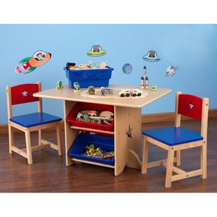 childrens table and chairs with storage star kids 5 piece table and chair set ZPLYNJP