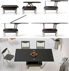 coffee table that converts to dining table transforming tables: convert coffee to dining surfaces GGHHAUW