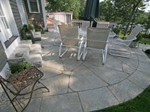 concrete patio ideas for small backyards curved, flagstone concrete patios new england hardscapes inc acton, ma NCHJDGL