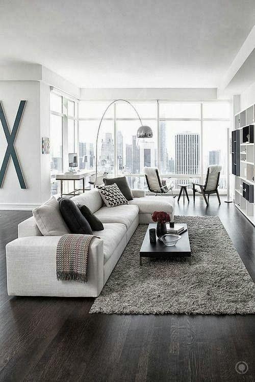 contemporary white living room design ideas modern living room | awesome living room | glass wall RFMLIWZ