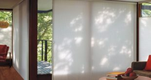contemporary window treatments for sliding glass doors glass door window treatments - duette ... JQGUSYR