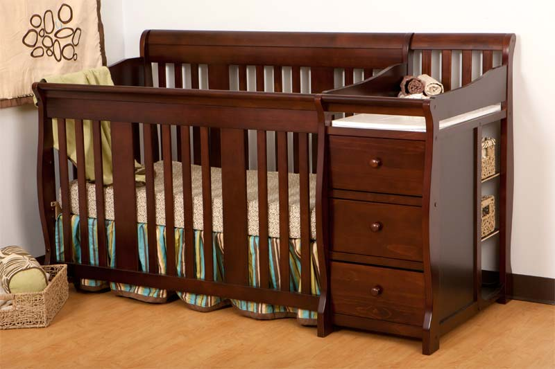 convertible baby cribs with changing table ba bed with changing table attached cherry recomy tables convertible KWNUDWJ