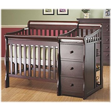 convertible baby cribs with changing table mini crib with changing table ... SQPTWNN