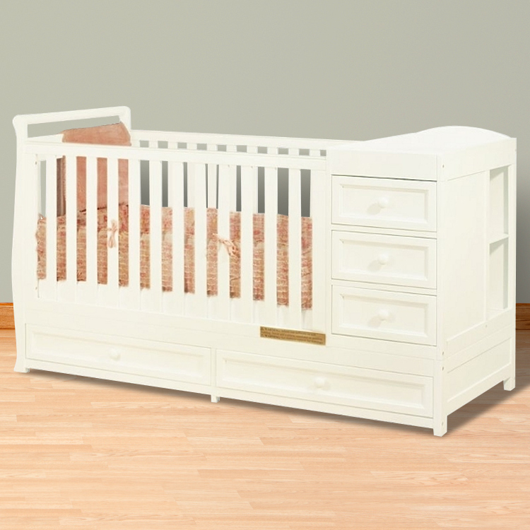 convertible baby cribs with changing table mini crib with changing table ... YMTKYHI