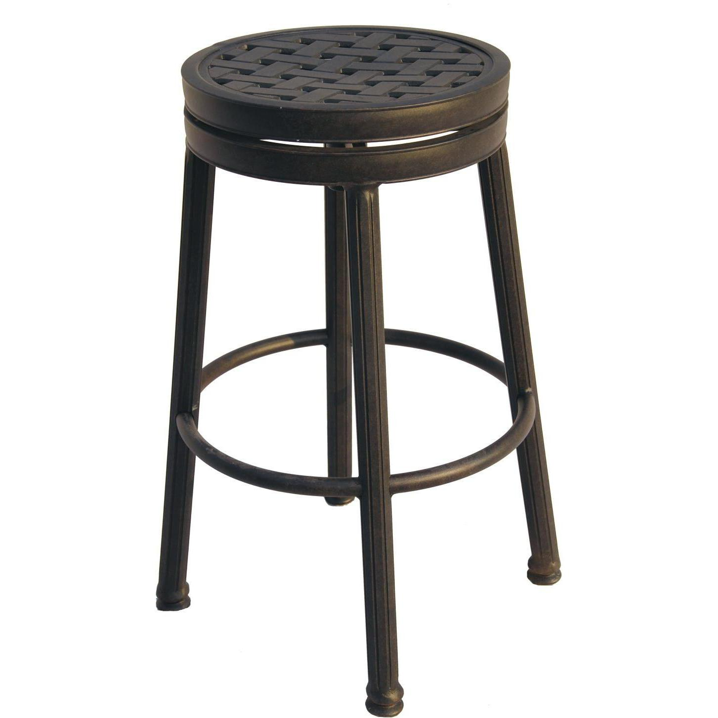 counter height backless swivel bar stools darlee classic cast aluminum round backless patio swivel counter height KLZXGJR