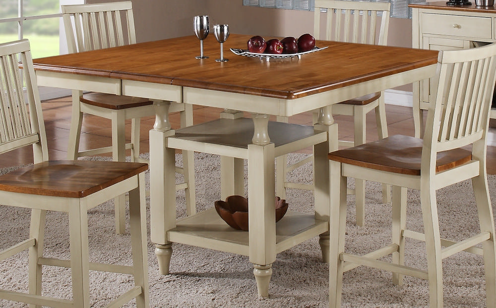 Counter Height Dining Table with Butterfly Leaf: Portability and Expansion