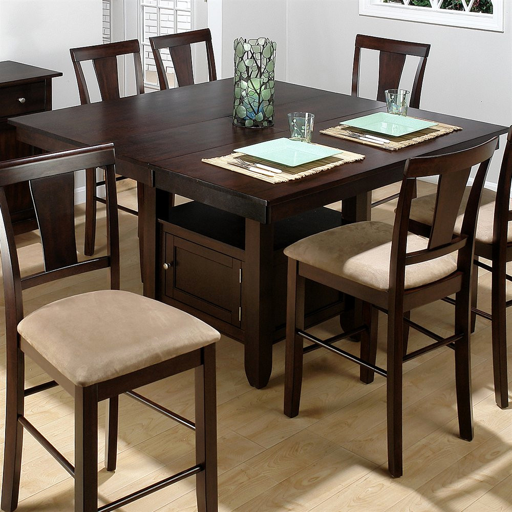 counter height dining table with storage ... best jofran 373 55 counter height storage dining table ZHLKOAA