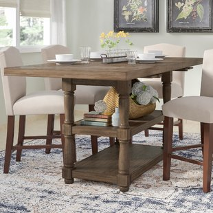 counter height dining table with storage fortunat counter height extendable dining table RDQZBIU