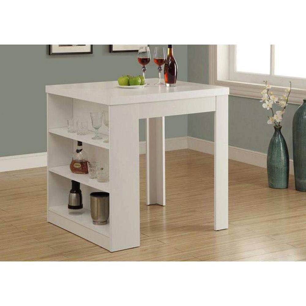 counter height dining table with storage monarch specialties counter height dining table white storage pub/bar table GEETJWZ