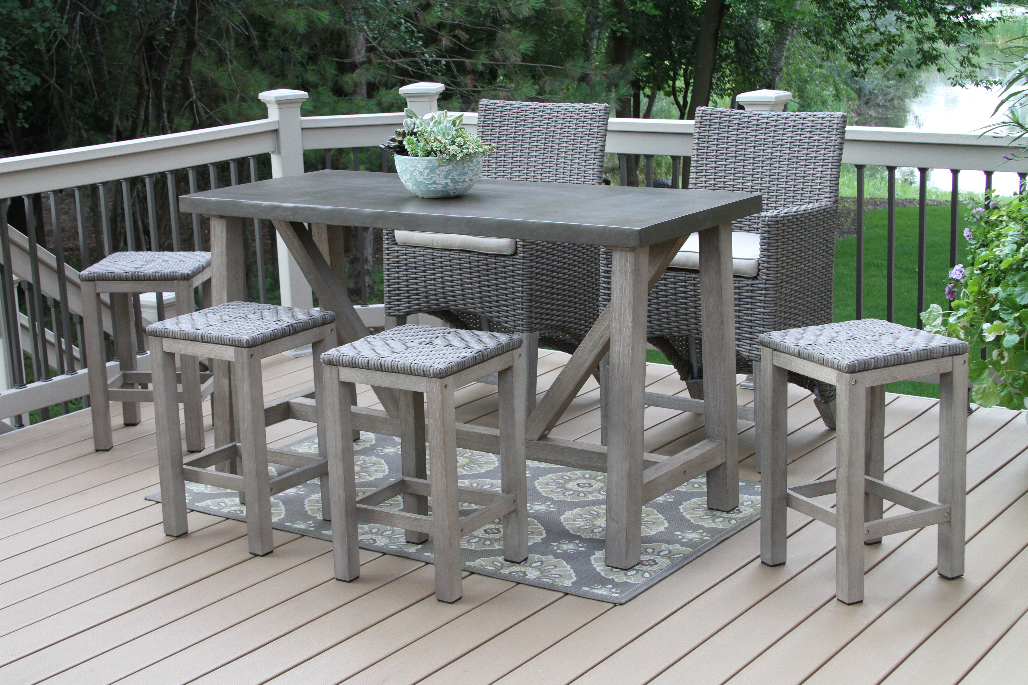 counter height outdoor table and chairs alluring extraordinary design bar height outdoor furniture patio set from SZOHEUE