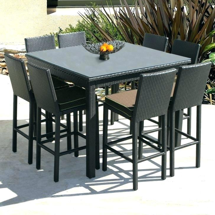 Ever-Beautiful Counter Height Outdoor Table and Chairs