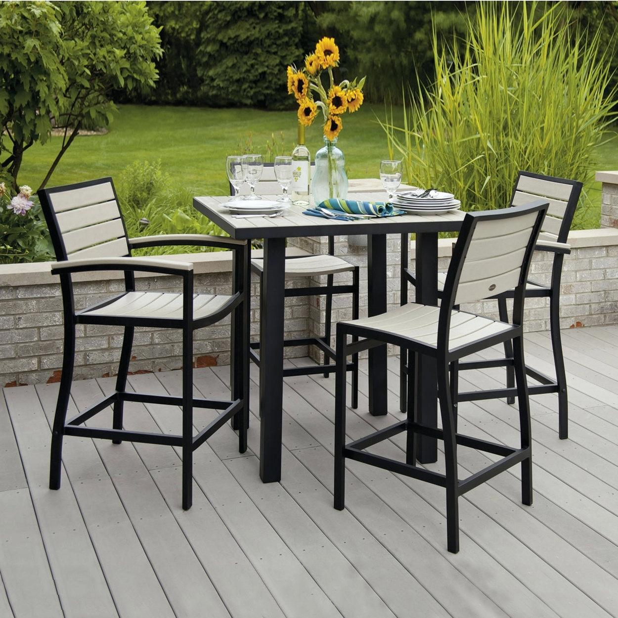counter height outdoor table and chairs counter height outdoor dining set euro 5 piece counter height VDGMUSY