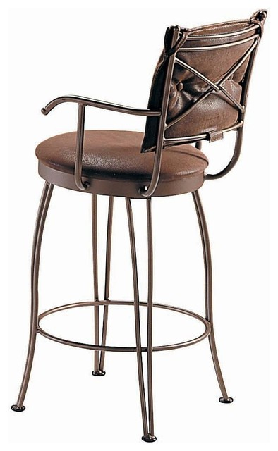 counter height swivel bar stools with arms trica bill ii swivel barstool with arms, 26 ICSJGYR